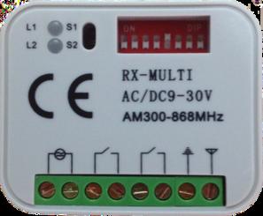 RX-Multi 868 universele ontvanger 868,300 MHz