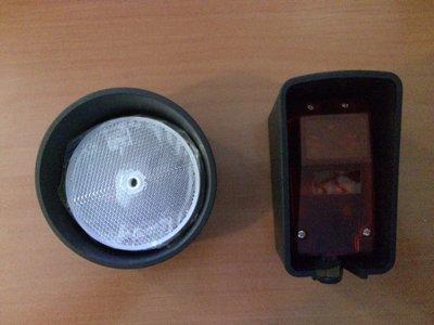 Fotocellen met reflector (draadloos aan 1 zijde)
